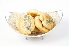 Free Bread Rolls In Basket Royalty Free Stock Photo - 14633425