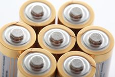 Free Group Of Batteries Royalty Free Stock Photography - 14633737