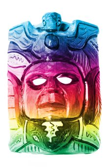 Free Colorful Traditional Old Mask Isolated Royalty Free Stock Photography - 14633767