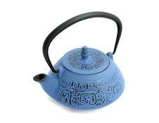 Free Blue Iron Teapot Royalty Free Stock Photo - 14634075