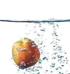 Free Apple Splash In Water Royalty Free Stock Photos - 14634118