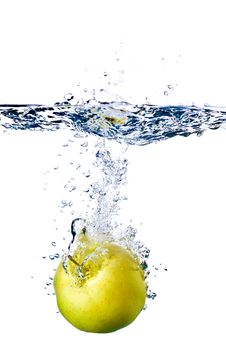 Free Apple Splash In Water Royalty Free Stock Images - 14634139