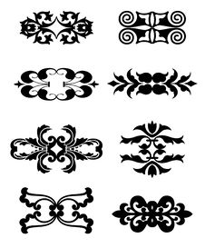 Free Calligraphic Flourishes Collection Royalty Free Stock Images - 14634229
