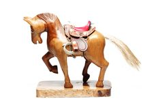 Toy Wooden Horse Stock Photography