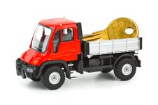 Free Toy Car Truck With Key Stock Image - 14634871