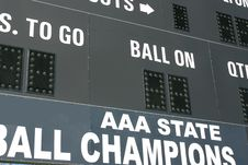 State Champions Scoreboard Royalty Free Stock Photography