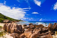 Free Tropical Beach At Seychelles Stock Photo - 14634910
