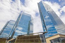 Free Highrise Glass Building With Sky Stock Images - 14635624