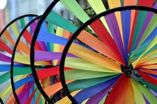 Free Wheels_of_rainbow_colored_fabric Royalty Free Stock Image - 14635976
