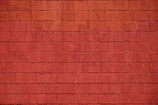 Free Painted Red Block Wall Royalty Free Stock Images - 14636249