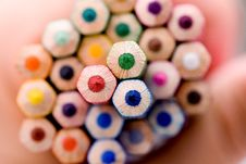 Free Pencil And Pastel Stock Photo - 14636290