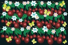 Free Background With Cherry Royalty Free Stock Photos - 14636408