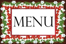 Free Menu Royalty Free Stock Photography - 14636417