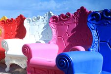 Free Colorful Armchairs Stock Image - 14636671