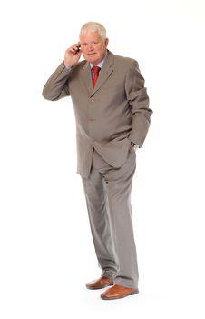 Free Successful Mature Businessman Using Phone Royalty Free Stock Photo - 14636755