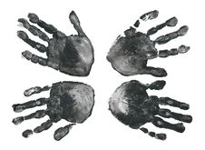 Free Spooky Hands Print Over White Royalty Free Stock Photo - 14637105