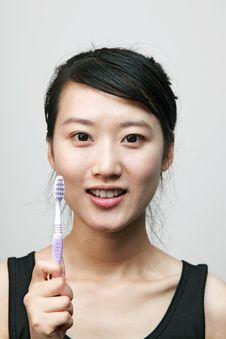 Brush Teeth Stock Photography