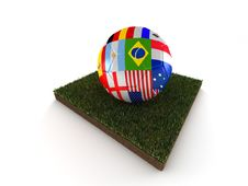 Free Ball Of World Soccer Cup Royalty Free Stock Photo - 14637565