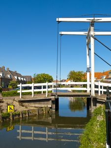 Free Drawbridge In Marken Canals Stock Photography - 14638612