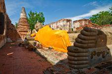 Free Reclining Buddha Image Stock Image - 14638811