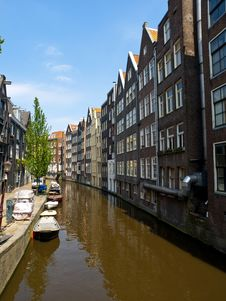 Free Amsterdam Canal Royalty Free Stock Photography - 14638837