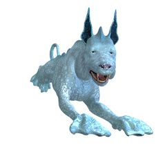 Free Bizarre Alien Dog.3D Rendering With Clipping Path Royalty Free Stock Image - 14638976