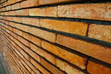 Brick Wall Perspective Royalty Free Stock Photography