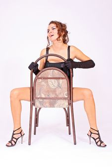 Free Erotic Concept Girl Sitting On The Chair Stock Photos - 14639193