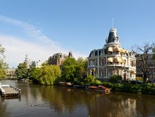 Free Amsterdam Canal Stock Photography - 14639322