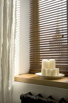 Free Candles On A Windowsill Royalty Free Stock Photography - 14639947