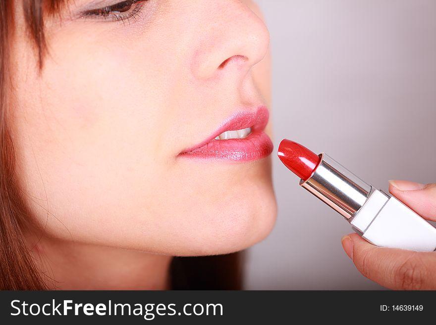 Lipstick and lip