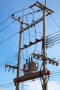 Free Transformer Sub-station On The Post Royalty Free Stock Photos - 14642058
