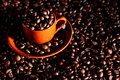 Free Coffee Cup With Beans Royalty Free Stock Image - 14649686