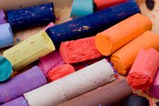 Free Pencil And Pastel Stock Photography - 14640762