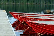 Free Red Boats At Dock Stock Images - 14641094