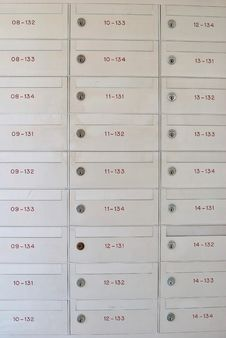 Row Of Letter Boxes Royalty Free Stock Photography
