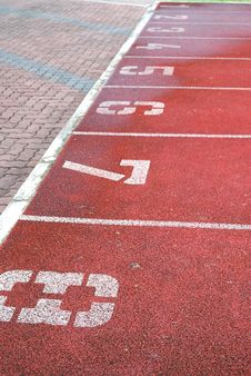 Numbered Running Track Stock Image