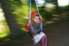 Free Girl On Swing Stock Images - 14641634