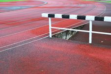 Free Hurdle On Running Track Stock Photo - 14641650