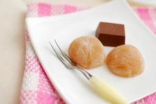 Free Japanese Traditional Tea Sweets And Chocolate Stock Image - 14641671