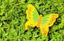 Free Toy Yellow Butterflies Royalty Free Stock Images - 14642999