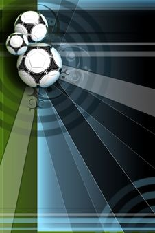 Free Colour Background With Soccer Ball Stock Images - 14643004