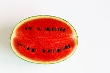Half Cut Watermelon (Horizon) Stock Photo