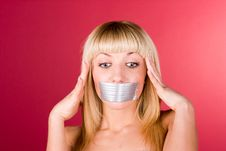 Free Young Blond Woman Having A Headache Close Up Royalty Free Stock Images - 14644379