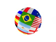 Free Ball Of World Soccer Cup Stock Image - 14644641