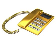 Free Golden Phone Stock Image - 14644701