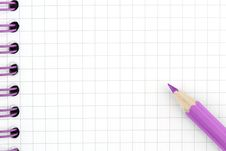 Free Pencil And Note Stock Image - 14644721