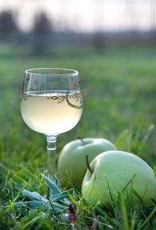 Free Wine And Apples Royalty Free Stock Photos - 14644898