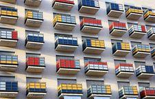 Free Balconies. Stock Image - 14644961