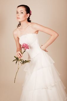 Free Bride With Flower Royalty Free Stock Image - 14645616
